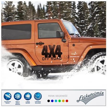 4x4 Off Road Oto Sticker