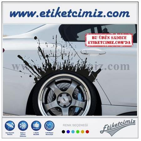 Çamur Lekesi Sticker Model 1