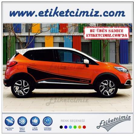Renault Captur Yan Şerit Sticker